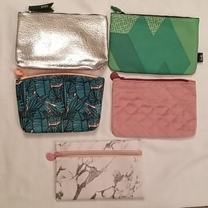 Lot of 5 brand new ipsy makeup bags.